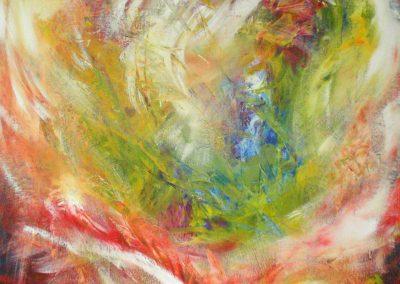 "open heart 02 | VERKAUFT | Acryl auf Leinwand 90x100 cm | ""open heart02""©Raphaela C. Näger2007"