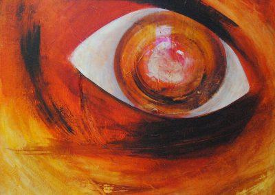 "eyecatcher   2016   Acryl auf Leinwand 90x100 cm   ""eyecatcher""©Raphaela C. Näger2016"