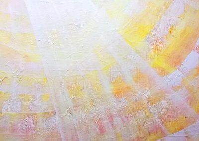 "lichtstrahl 02 | 2017 | Acryl auf Leinwand 100x90 cm | ""lichtstrah02""©Raphaela C. Näger2017"