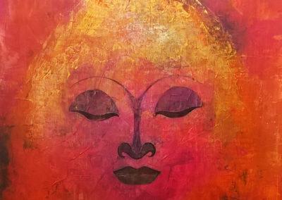 "buddha | 2019 | Acryl auf Leinwand 50x50 cm | ""buddha""©Raphaela C. Näger2019"